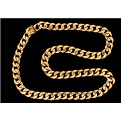 "CHAIN:  [1] 14KYG curb link chain necklace; 28 1/2""s;  277.9 grams."