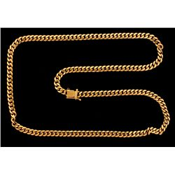 CHAIN:  [1] 14KYG curb link chain, 27 inches;  76.6 grams.