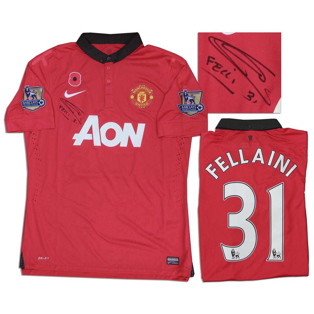 be7f7df3840 Image 1   Marouane Fellaini Match Worn Soccer Jersey Signed