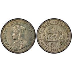 East Africa 50c 1922 PCGS SP 64