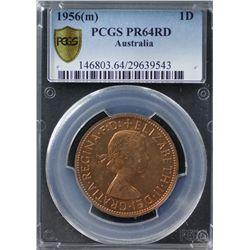 Australia Penny 1956M PCGS PR 64 Red