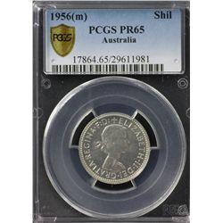 Australia Shilling 1956 PCGS PR 65