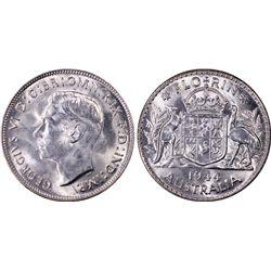 Australia Florin 1944s PCGS MS 63