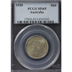 Australia Shilling 1938 PCGS MS 65