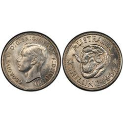 Australia Shilling 1944 PCGS MS 63