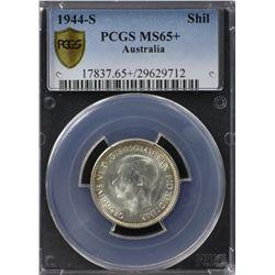 Australia Shilling 1944s PCGS MS 65 +