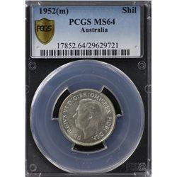 Australia Shilling 1952 PCGS MS 64