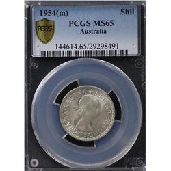 Australia Shilling 1954 PCGS MS 65