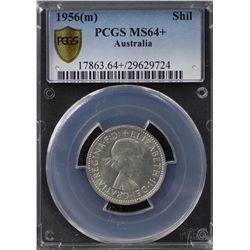 Australia Shilling 1956 PCGS MS 64 +