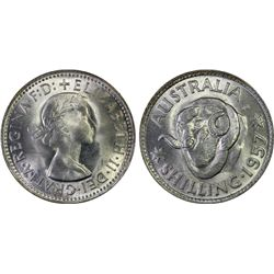 Australia Shilling 1957 PCGS MS 65