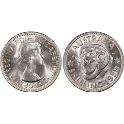 Australia Shilling 1958 PCGS MS 64