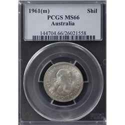 Australia Shilling 1961 PCGS MS 66
