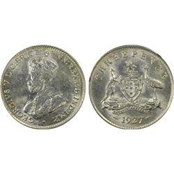 Australia Threepence 1927 PCGS MS 61