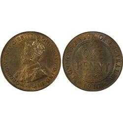 Australia Penny 1917 PCGS MSD 64 RB