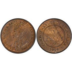 Australia Penny 1919 DB PCGS MS 63 BN
