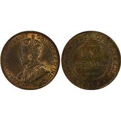 Australia Penny 1920 DB PCGS MS 63 RB