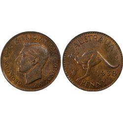 Australia Penny 1938 PCGS MS 63 RB