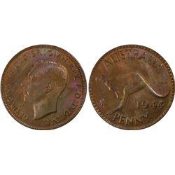 Australia Penny 1944p PCGS MS 64 BN