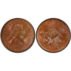 Australia Penny 1953P PCGS MS 63 BN
