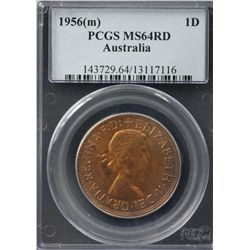 Australia Penny 1956 PCGS MS 64 Red