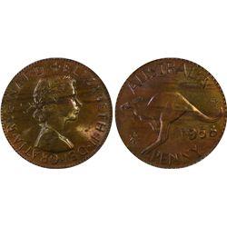 Australia Penny 1958 P PCGS MS 63 RB