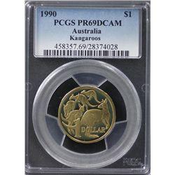 Australia $1 1990 PCGS PR 69