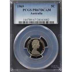 1969 5c PCGS PR67