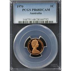 1970 20c PCGS PR67DCAM