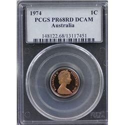 1974 1c PCGS PR68RD CAM