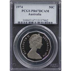 1974 50c PCGS PR67DCAM