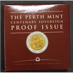 Centenary Proof Sovereign issue in Box