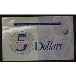 1994 $5 & $10 Deluxe note pair in Folders