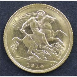 1914 Half Sovereign Uncirculated