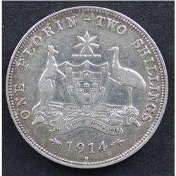 1914 H Florin Very Fine