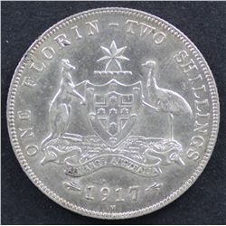 1917 Florin Extremely Fine