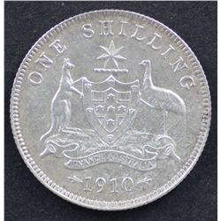 1910 Shilling Good Very Fine