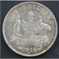 1916 Shilling Uncirculated