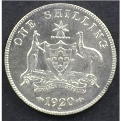 1920 Shilling Extremely Fine