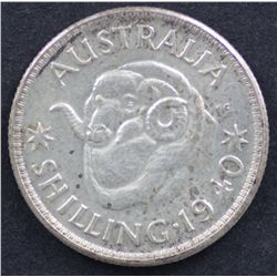 1940 Shilling Nearly Uncirculated