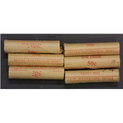 1c Mint Rolls 1972-1977 6 Rolls a couple are scarce