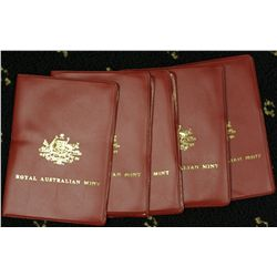1978 Mint Sets x 5, in red wallet , nice condition