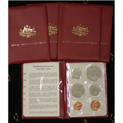 1983 Mint Sets x 5, the 20c a not released for circulation year