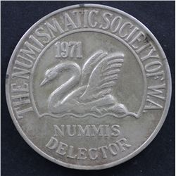 1971 Numismatic Medal Of WA in Silver