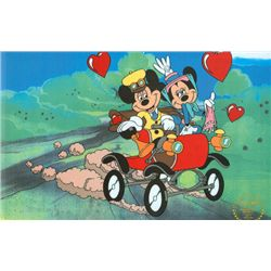 Walt Disney Serigraph, Cell ,Mickey and Minnie Nifty Nineties On Road W/ Certificate Of Authenticity