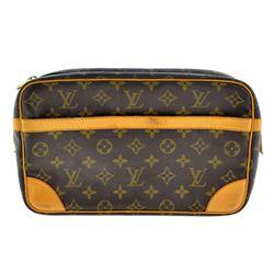 ^Authentic Louis Vuitton Monogram Compiegne 28 GM Pochette Clutch (Pre Owned)