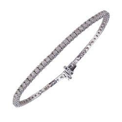 APP: 11.3k *14 kt. White Gold, 2.76CT Diamond Tennis Bracelet