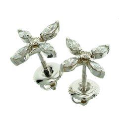0.65CT 14 kt. White Gold, Diamond Earrings