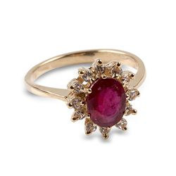 APP: 1.5k 14 kt. Gold, 1.81CT Ruby And Whte Sapphire Ring