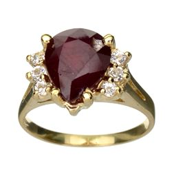 APP: 4.6k 14 kt. Gold, 3.30CT Ruby And Topaz Ring