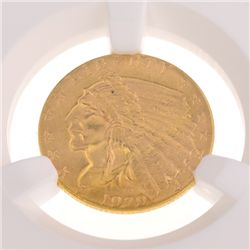 *1929 $2.50 U.S Indian Head Type Gold Coin
